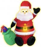 Decoración de Papá Noel inflable