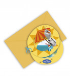 6 Tarjetas de invitación Olaf™