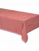 Mantel de plástico rayas rojas y blancas 137x274 cm