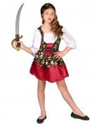Disfraz pirata niña calaveras doradas