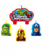 4 Velas cumpleaños Los Vengadores™