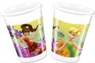 8 Vasos plástico Hada Campanilla™ 200 ml