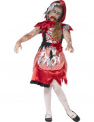 Disfraz Halloween zombie caperucita roja niña