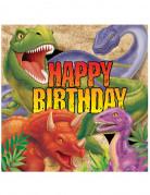 16 Servilletas papel Dinosaurio cumpleaños 33x33 cm
