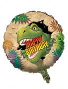 Globo aluminio cumpleaños dinosaurio 46 cm