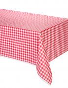 Mantel de plástico Vichy rojo 137 x 274 cm