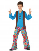 Disfraz hippie azul niño
