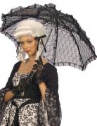 Sombrilla negra encaje 83 cm