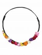Corona de flores multicolores mujer