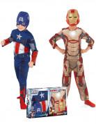 Pack disfraz niño Capitán América™ e Iron Man™ Los Vengadores™ caja