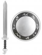Kit gladiador espada escudo niño
