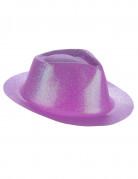 Sombrero violeta purpurina adulto