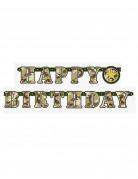 Guirnalda articulada Happy Birthday militar 1,6 m