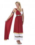 Disfraz de romana mujer blanco y rojo