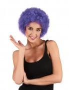 Peluca afro / payaso violeta estándar adulto