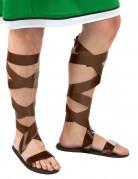 Sandalias romanas marrones adulto