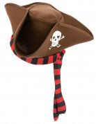 Sombrero de pirata marrón adulto