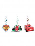 3 Decoraciones colgantes Cars hielo Ice Racers™ 70 cm