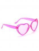 Gafas rosas de corazón plástico adulto