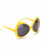 Gafas disco amarillas adulto