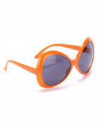 Gafas disco adulto naranja