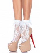 Calcetines encaje blanco mujer