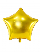 Globo alumino estrella dorada 45 cm