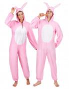 Disfraz de pareja conejo rosa