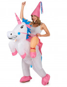 Disfraz de unicornio hinchable adulto