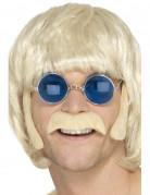 Kit hippie rubio con bigote y patillas hombre