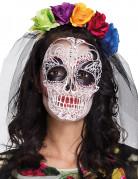 Máscara y diadema de colores Día de los muertos