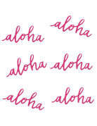 6 decoraciones de mesa Aloha
