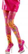 Medias estilo hippie rosa y multicolor