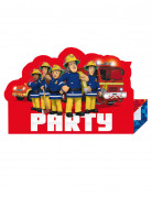 8 Tarjetas de invitación Sam el Bombero™ party