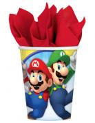 8 Vasos de cartón Super Mario™ 266 ml