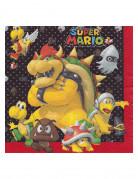 20 Servilletas de papel Super Mario Bros™ 33x33 cm