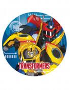 8 Platos de cartón 23 cm Transformers Robots in Disguise™