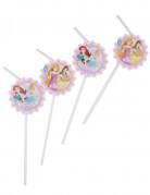 6 Pajitas viñeta de cartón Princesas Disney Dreaming™