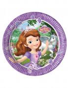 8 Platos de cartón 23 cm Princesa Sofía hace una amiga™