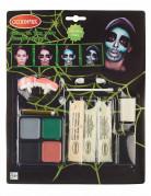 Kit maquillaje esqueleto fosforito adulto Halloween