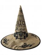 Sombrero de copa tela de yute esqueleto adulto Halloween  Sombreros ... ad439ed8367