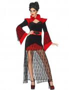 Disfraz de vampiro con encaje mujer Halloween