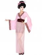Disfraz de geisha rosa mujer