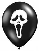 6 Globos látex fantasmas Halloween