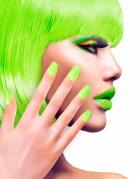Uñas postizas adhesivas verdes adulto