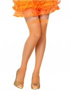 Medias rejilla naranja mujer