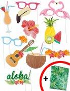 Kit photobooth Hawai 10 piezas