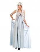 Disfraz vestido de princesa azul mujer