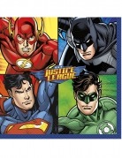 16 Servilletas de papel Justice League™ 33 x 33 cm