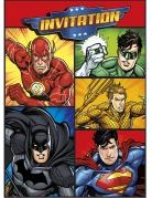 8 Tarjetas de incitación y sobres Justice League™